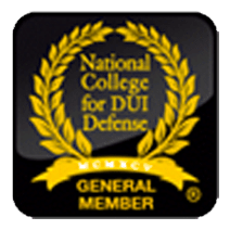 National College for DUI Defense general member badge