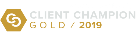 client champion gold badge for 2019